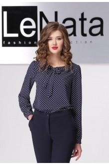 LeNata 11798 синий в белый горох
