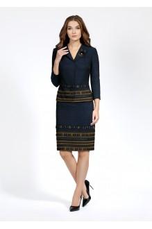 Bazalini 2910  синий с оливковым дизайном