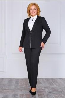 ЛаКона 973b черный/молочная блуза