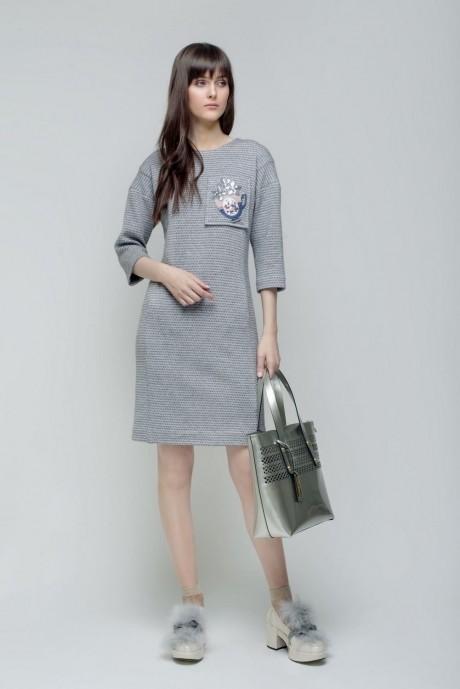 Повседневные платья Prestige 2930 серый