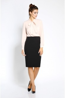 Pirs 207 розовая блузка/черная юбка