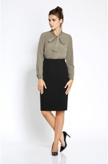 Pirs 207 блузка кофе/черная юбка