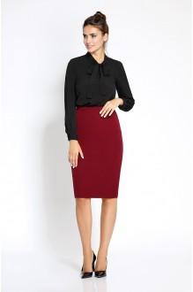 Pirs 207 черная блузка/юбка бордо