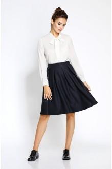 Pirs 208 белая блузка/синяя юбка