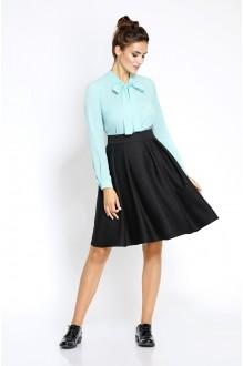 Pirs 208 голубая блузка/черная юбка