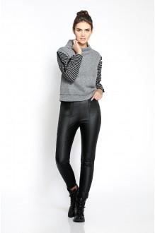 Pirs 225 светло-серый джемпер/черные брюки