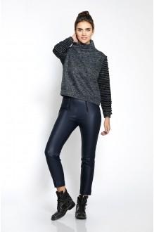 Pirs 225 темно-серый джемпер/синие брюки