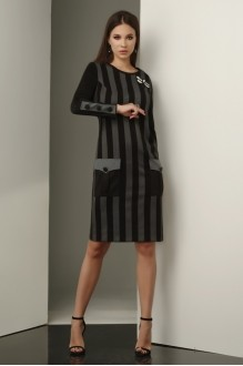 Lissana 3233 черно-серый