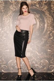 Vesnaletto 1619  -1 черный/бледно розовый