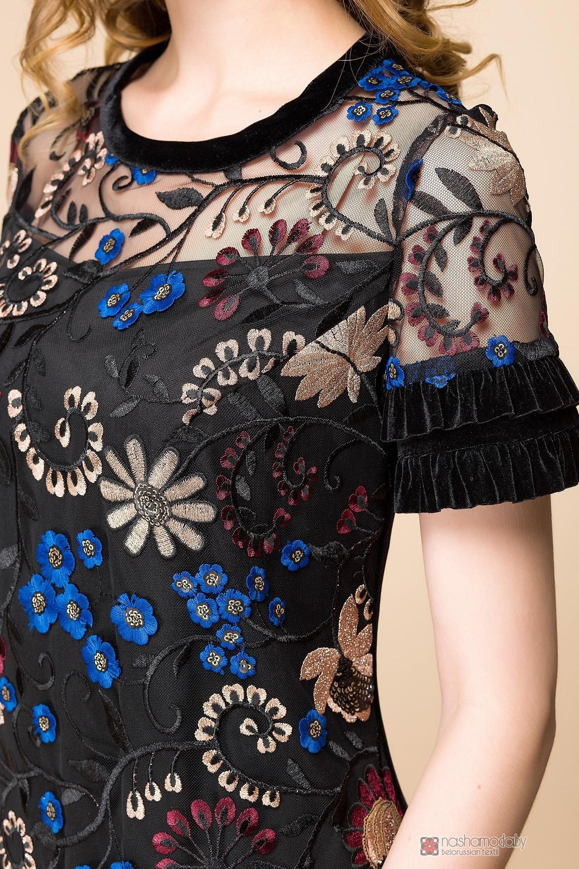 Серебряная вышивка на платье