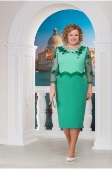 Нинель Шик 5593 юбка зеленый/верх светло-зеленый