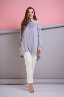 Anastasia 174 серый с молочным