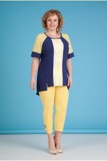Лилиана 643 синий+желтые брюки
