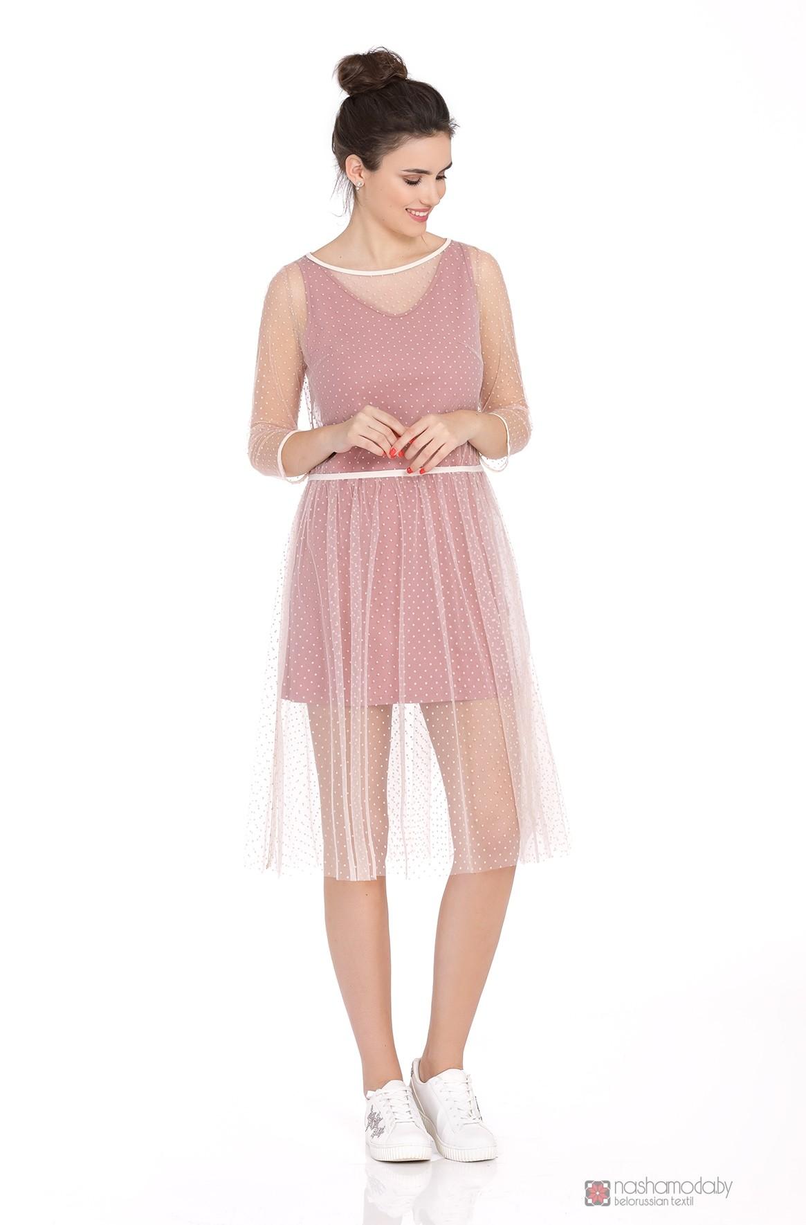 987ff803a83 Платье PiRS 384 розовое с розовой сеткой - Наша Мода Брест