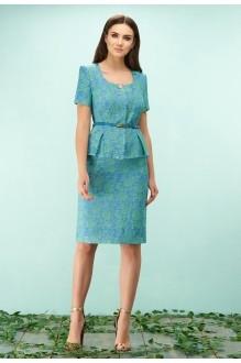 Bazalini 3111 юбка зелено-голубые тона