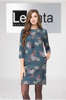 LeNata 11961 темно-бирюзовый в цветы