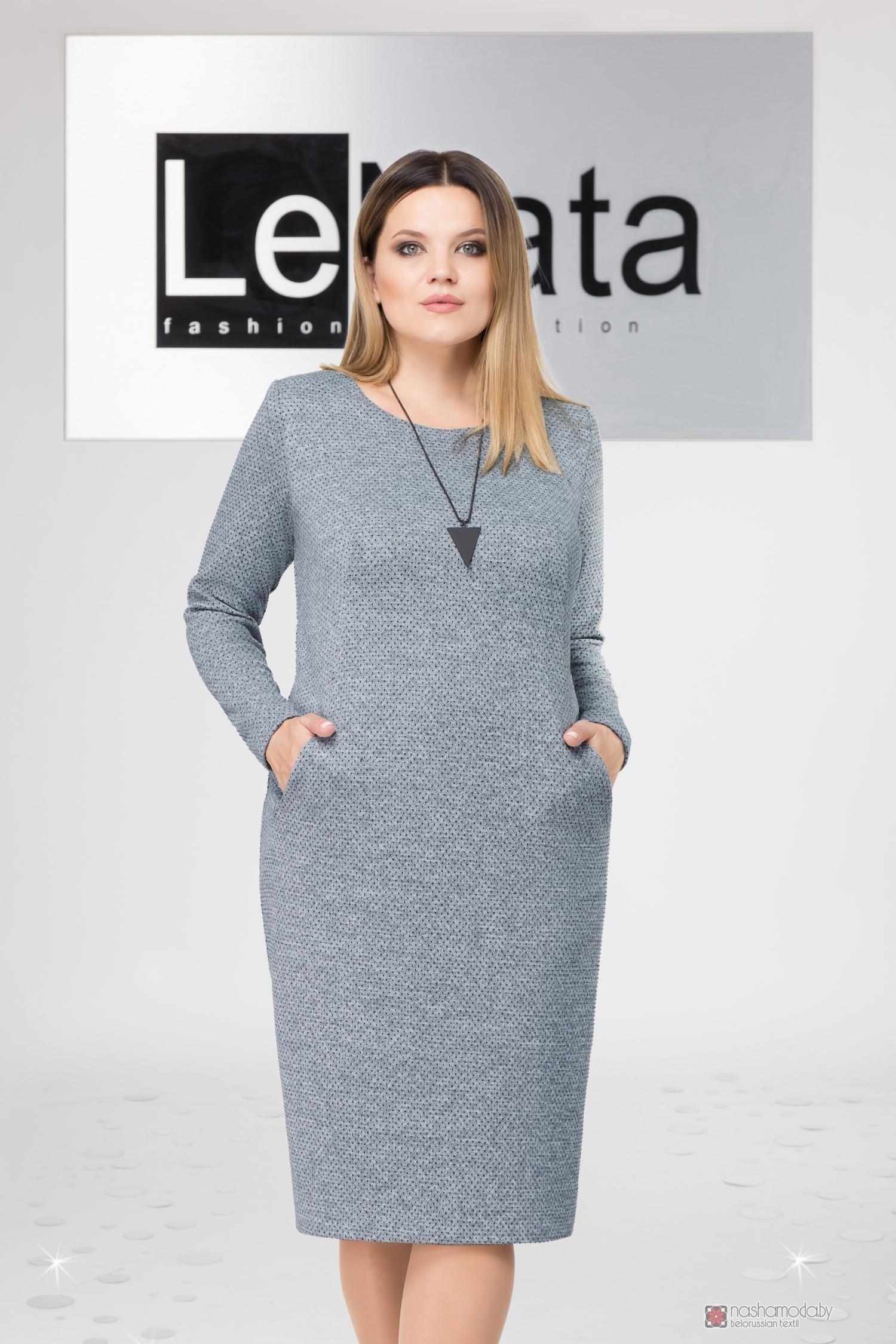 Модель LeNata 11963 серо-синий в черную точку