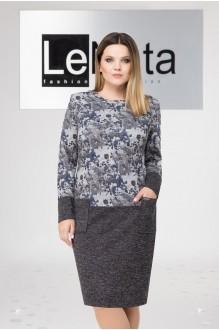 LeNata 11955 серый с синими цветами