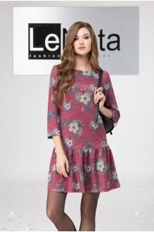 LeNata 11958 бордовый с цветами