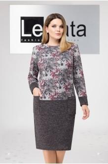 LeNata 11955 серое в роз.цветы