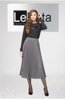 LeNata 11952 -1 серый с бордовой полоской