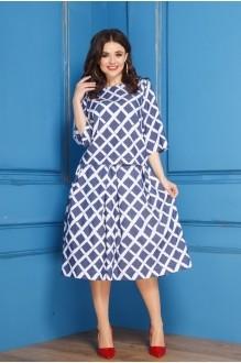 Anastasia 266 синий с белым