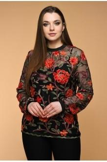 Медея и К 1901 черный с красными цветами