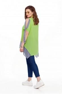 Модель TEZA 191 салатовая блуза/синие брюки фото 2