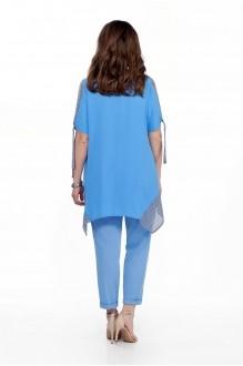 Модель TEZA 198 голубая блуза/голубые брюки фото 2