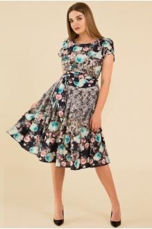 Teffi Style 721 -3 бирюзовые цветы