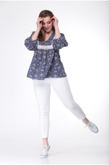 Блузка, туника MALI 615 синий фото 5