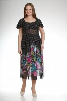 Летнее платье Лиона-Стиль 361  черный цветы фото 1