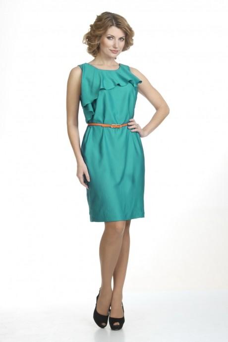 Летние платья Лиона-Стиль 427 изумруд