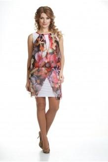 Летнее платье Лиона-Стиль 428 розовые тона фото 1