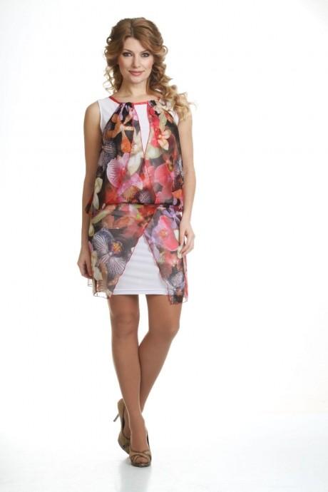 Летнее платье Лиона-Стиль 428 розовые тона