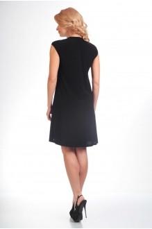 Летнее платье Лиона-Стиль 489 черный+белый фото 2