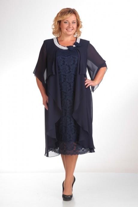 Вечернее платье Прити 343 темно-синий