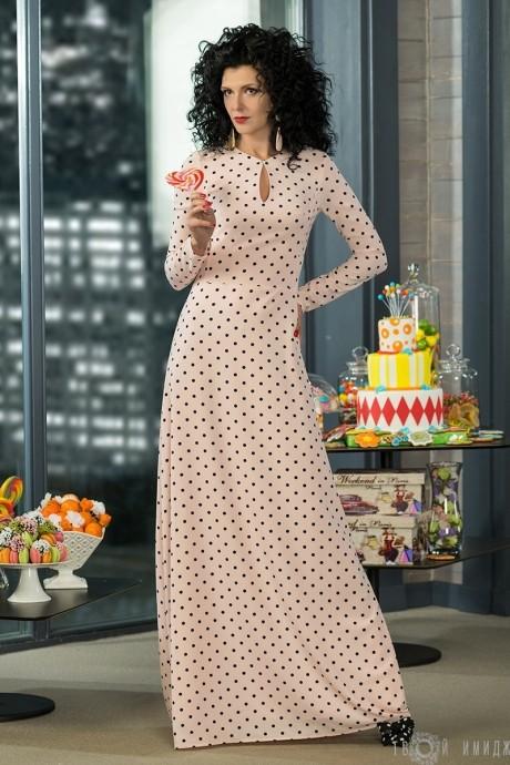 Длинное платье Твой Имидж 2014 розовый