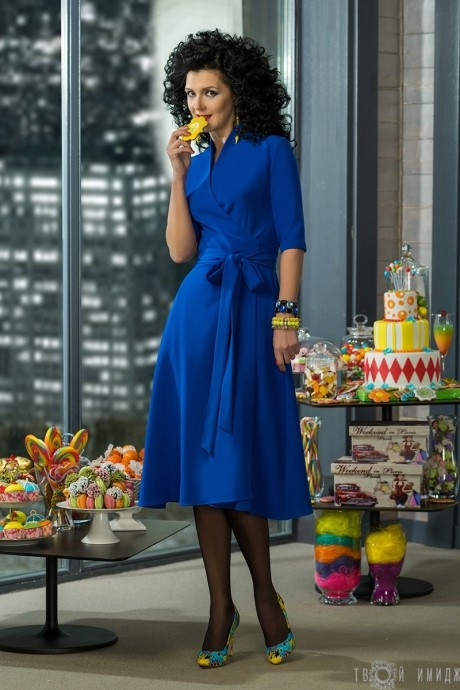 Вечернее платье Твой Имидж 2036 синий