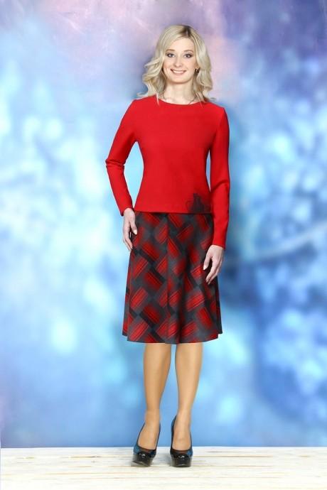 Юбочный костюм /комплект ALANI COLLECTION 234 красный