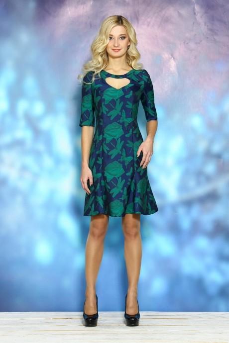 Вечернее платье ALANI COLLECTION 246 синий/зеленый