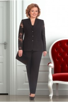 Брючный костюм /комплект Ksenia Stylе 1247 черный фото 1