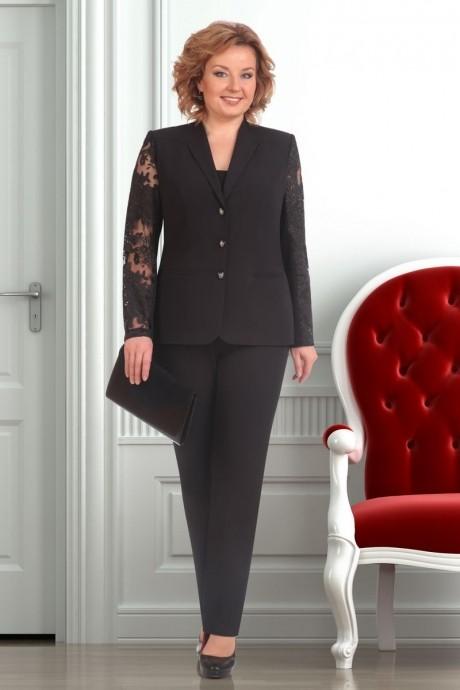 Брючный костюм /комплект Ksenia Stylе 1247 черный