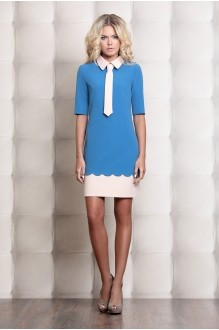 Деловое платье Prestige 2722 голубой фото 1