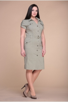 Повседневное платье ЮРС 15-333 олива фото 1