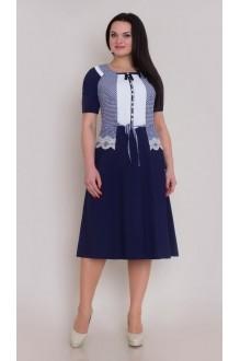 Повседневное платье Галеан-стиль 266 синий  фото 1