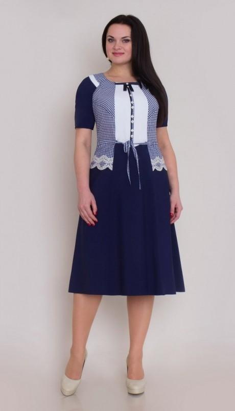 Повседневное платье Галеан-стиль 266 синий