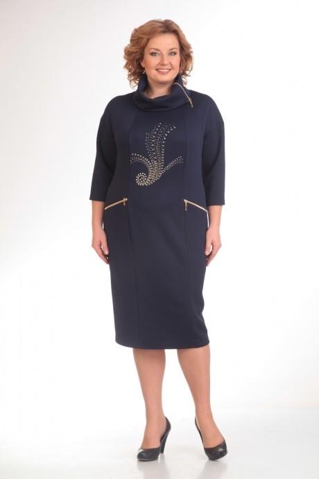 Повседневное платье Прити 398 темно-синий