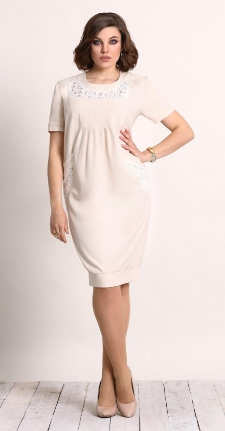 Повседневное платье Галеан-стиль 450 бежевый