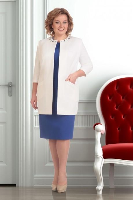 Юбочный костюм /комплект Ksenia Stylе 1251 синий